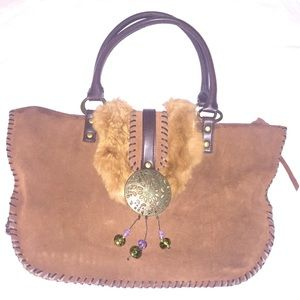 Nicole Lee Brown Leather Purse